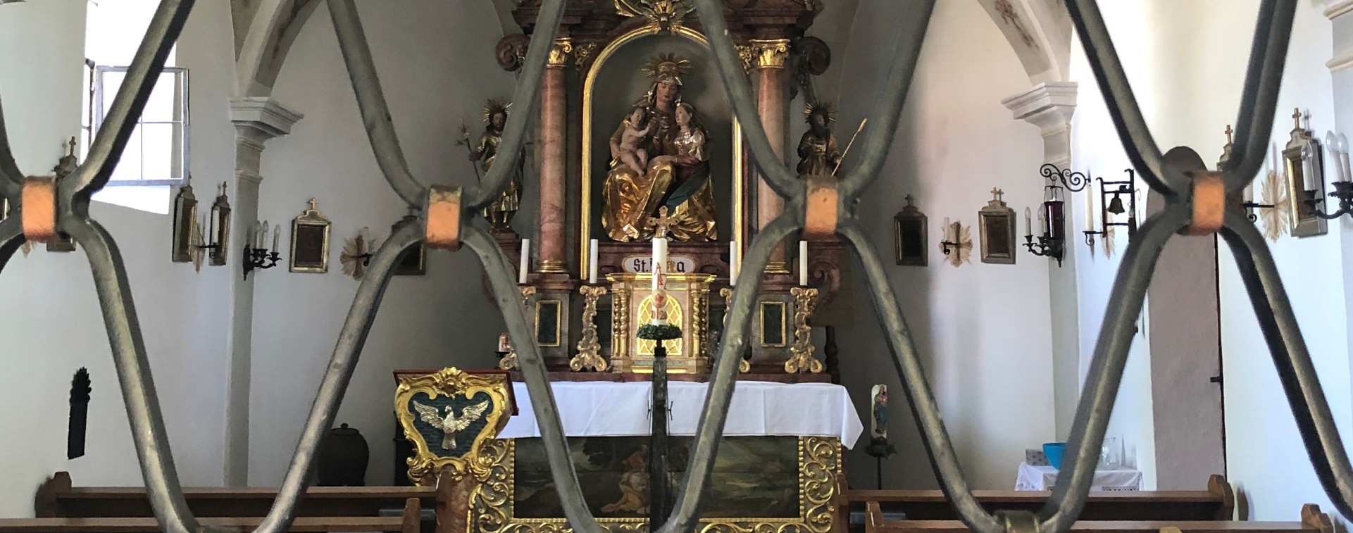 Altar in der Kapelle in Annabrunn